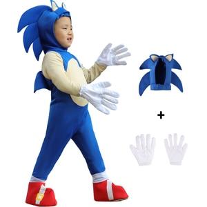 Halloween luksusowy kostium jeż-chłopiec dzieci z postacią z gry świąteczny prezent przebranie na karnawał dla dzieci Girls Dress