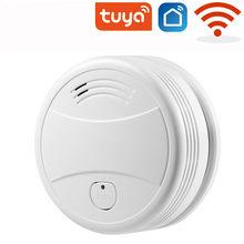 Детектор дыма, датчик Пожарной Сигнализации, домашняя система безопасности, Пожарные Системы, Wi-Fi дымовая сигнализация Tuya, независимая пожа...