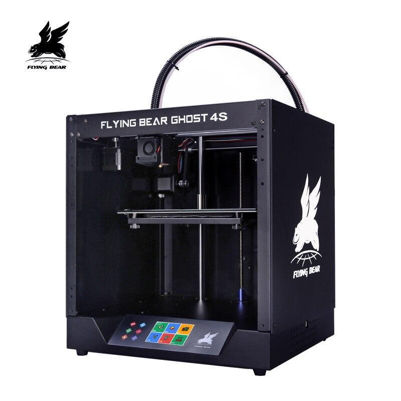 Frete grátis Flyingbear-Ghost4S kit Impressora 3d armação de metal cheia de Alta Precisão impressora 3d imprimante impresora plataforma de vidro