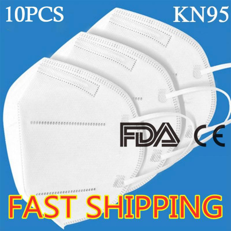 Dust-proof Mask Breathable 2020 10PCS KN95 Disposable Hot Selling CE Anti-fog And PM2.5 Disposable Ffp3 Mask Respirator