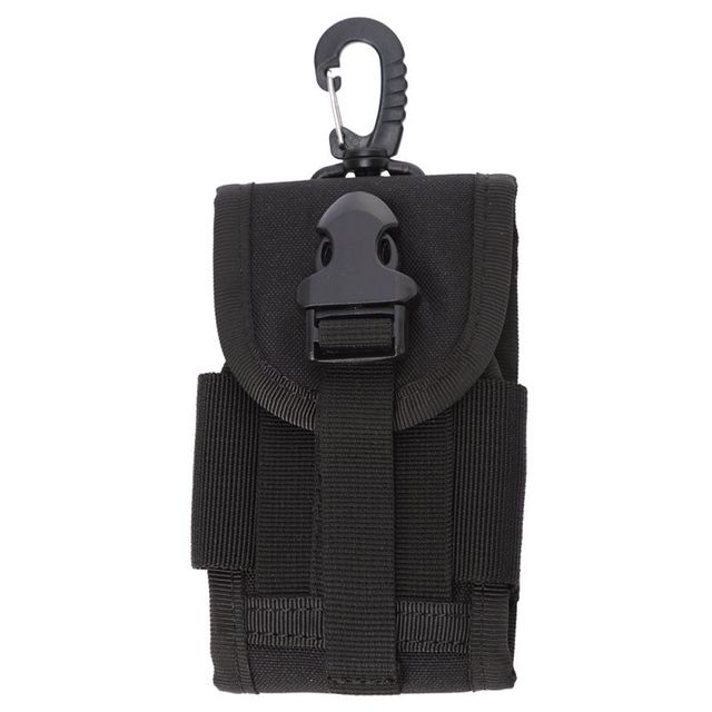 4.5 Inch Molle Bag Tactical Wallet Card Pouch Military Waist Bag Waterproof Card Key Holder With Carabiner For Camping Hunting 2