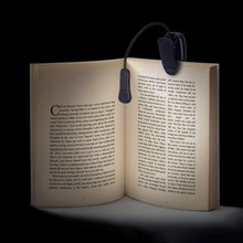 Charging LED book light sturdy clip ON bed reading light for Beds, LED Clip on Lamp Built in Battery for Reading Books