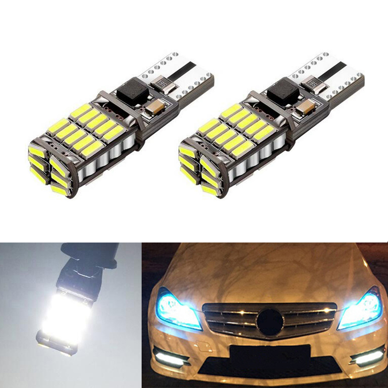 2x T10 W5W 4014smd LED Clearance <font><b>Light</b></font> with Projector Lens For Mercedes <font><b>Benz</b></font> <font><b>W221</b></font> W220 W163 W164 W203 C E SLK GLK CLS M GL image