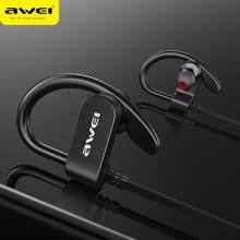 AWEI Wasserdichte IPX4 Sport Kopfhörer Bluetooth Drahtlose Ohrhörer Freihändiger Stereo HiFi Sound Ohrbügel 120mAh Mit Mic Für Telefon