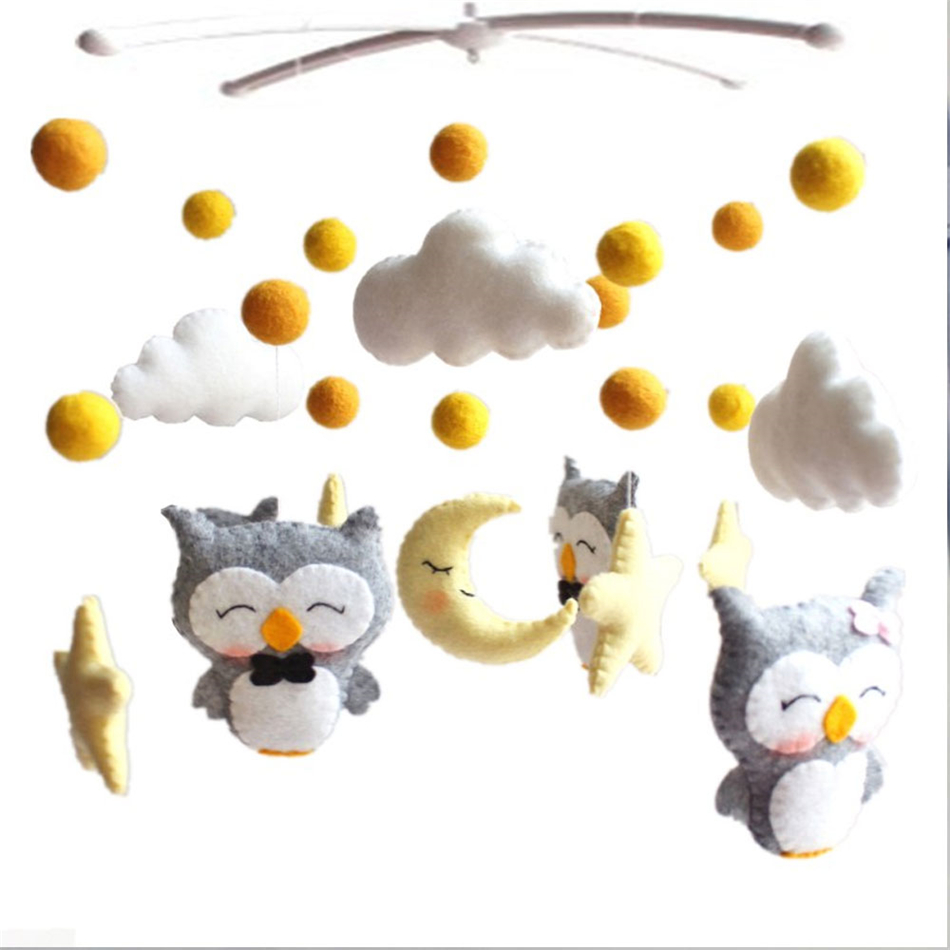 Baby Mobile Rattles Toys 0-12 Months For Newborn Baby Crib Bed Bell Infant Baby Rattles Carousel For Cots Children Handmade Toy