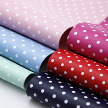 30*140cm Dot Printed Faux Leather Fabric  for Bows Leatherette Fabric Leer Stof DIY Handmade Materials Handbag Shoes ,1Yc7823