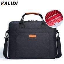 Kalidi bolsa de ombro à prova dwaterproof água 13.3 14 15.6 17.3 polegada maleta saco de negócios das mulheres dos homens mensageiro bolsa lona do vintage