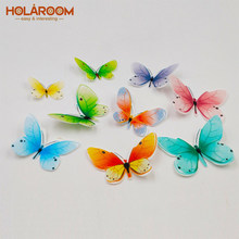 Holaroom Creative Butterfly Mini Flower Edible Glutinous Rice Paper Cupcake Top Decorations Practical Cake Dessert Decor Tool(China)