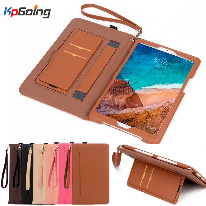 For Xiaomi Mi Pad 4 Case Shockproof Cover Premium PU Leather Business Mipad 4 Smart Tablet Xaomi Pad4 Global Case W/ Strip