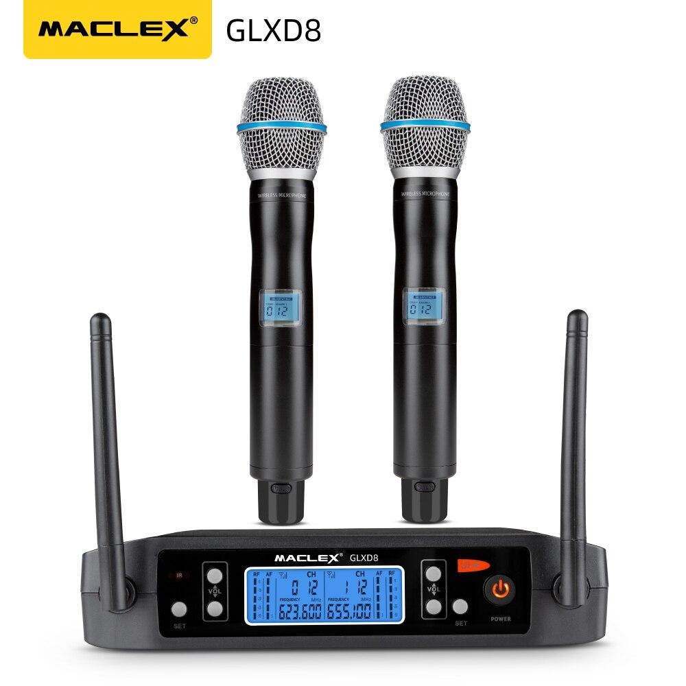 Maclex GLXD8 nouveau système de Microphone sans fil professionnel de haute qualité