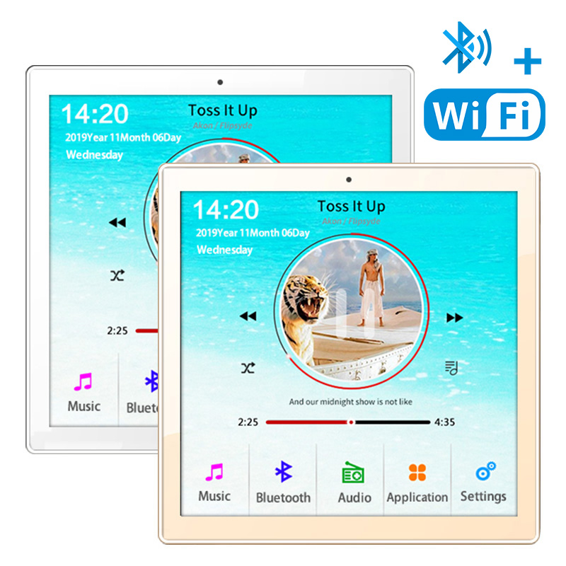 Home New Mini WiFi Bluetooth Touch Screen In Wall Audio Music Center Sound Amplifier tv tablet Smart Digital Stereo fm Amplifier 1
