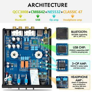 Image 4 - Nobsound HiFi Bluetooth 5.0 6J5 zawór rury przedwzmacniacz bas Stereo Audio wzmacniacz słuchawkowy z USB DAC APTX