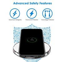 Wireless Charger for iPhone X Xs MAX XR 8 plus Fast Charging for Samsung S8 S9 Plus Note 9 8 USB Phone Charger Pad 4