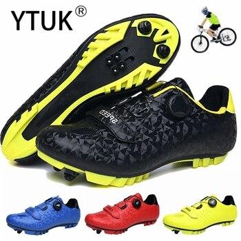 Ytuk novo mtb sapatos de ciclismo de montanha dos homens sapatos de bicicleta de estrada tênis de mulher profissional auto-bloqueio respirável sapato 1