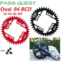 MTB Mountain Bike Oval Chain Wheel 94BCD 32T 34T 36T 38T  Hollow Chainring With Mounting Screws For NX X1 GX Crankset