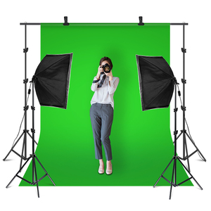 Image 1 - 2.6M x 3M/8.5ft x 10ft Background Support System and 135W 5500K Softbox Continuous Lighting Kit for Photo Studio Product