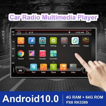 Eunavi 2 Din Car Radio Multimedia Player Android10 Universal 7'' HD Auto Audio Stereo GPS Navigation 2Din 4G WIFI DSP 4G RAM BT5