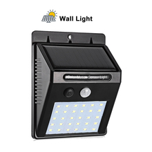 Solar Garden Light 30 LED Solar Powered PIR Motion Sensor Lamp Waterproof Outdoor Lighting Decoration Lights Wireless Wall Lamp 10w pir motion sensor led spot lighting solar powered panel outdoor garden path wall lights flood led emergency lamp luminaria