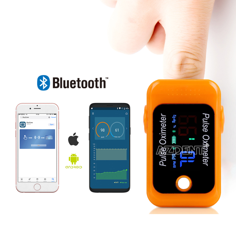 Newest APP Bluetooth Function Oximeter Pulse Oximeter Finger Pulse Oximeter Bluetooth Fingertip Pulse Oximeter