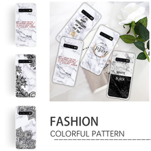 Flower Case for Samsung Galaxy S9 S8 Plus S10e S7 Edge Note 9 8 Shell Thin Lace TPU Soft marble Smooth Cover Phone Cas