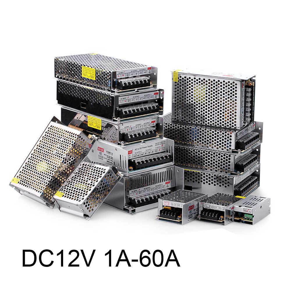 Voeding DC 12V 1A 2A 3A 5A 10A 12A 15A 20A 30A 40A Verlichting Transformator Voor LED Strip licht Schakelende Adapter Driver