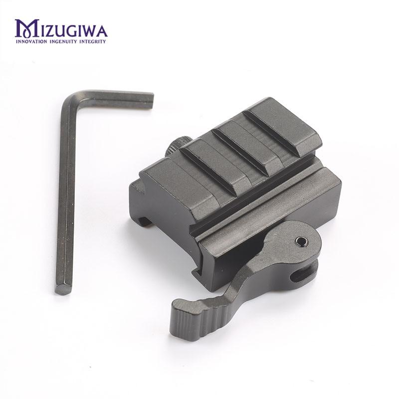 "0.6"" 3 Slot QD Quick Detach Lever Lock Mount Riser QR Block Picatinny Rail Adapter 20mm Adaptor AR15 M16 Rifle Red Dot Sight(China)"