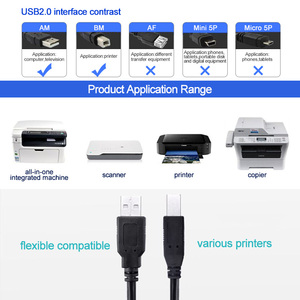 Image 3 - VOXLINK USB 2.0 Print Cable Type A to B Male to Male Printer Cable For Canon Epson HP ZJiang Label Printer DAC USB Printer cable