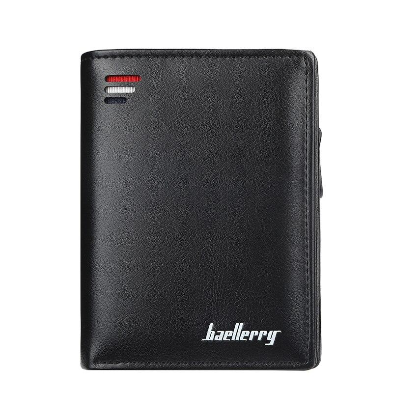 Vintage Men Wallet PU Leather Short Wallets Male Multifunctional Cowhide Purse Coin Pocket Driver License Holder Men Wallets