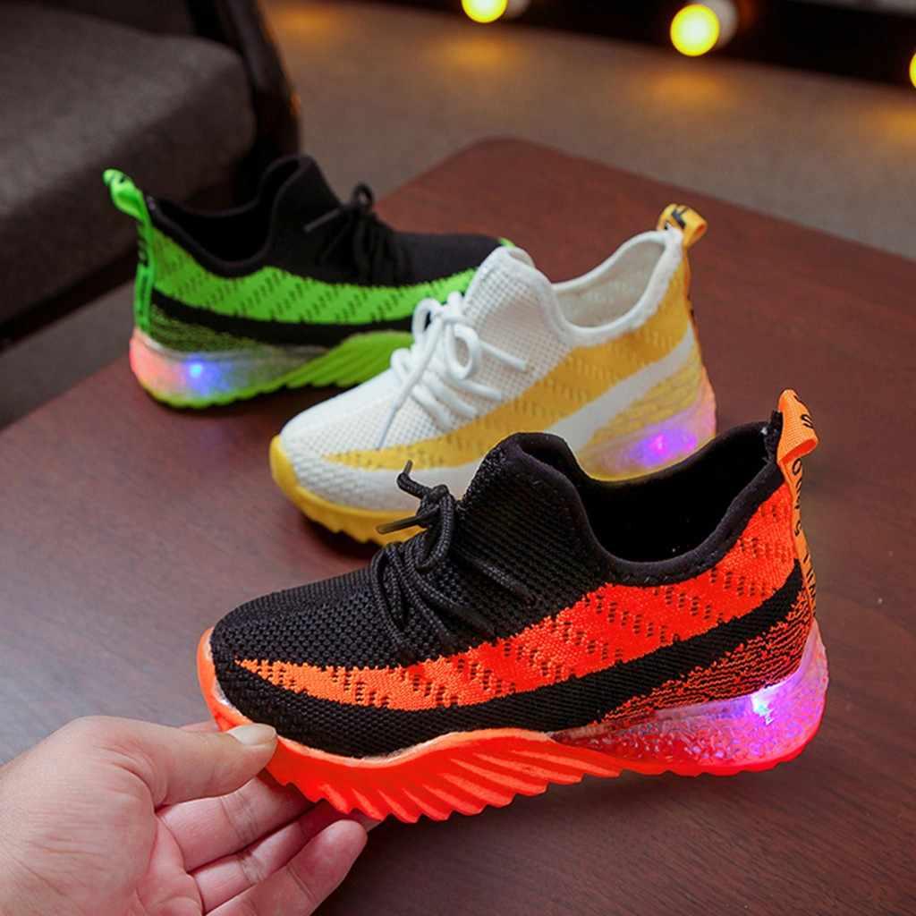 Zapatos para niños, zapatos para bebés, zapatos para niños, zapatos para niños, Zapatillas deportivas luminosas Led, zapatos planos Tenis, Zapatillas infantiles, Nino