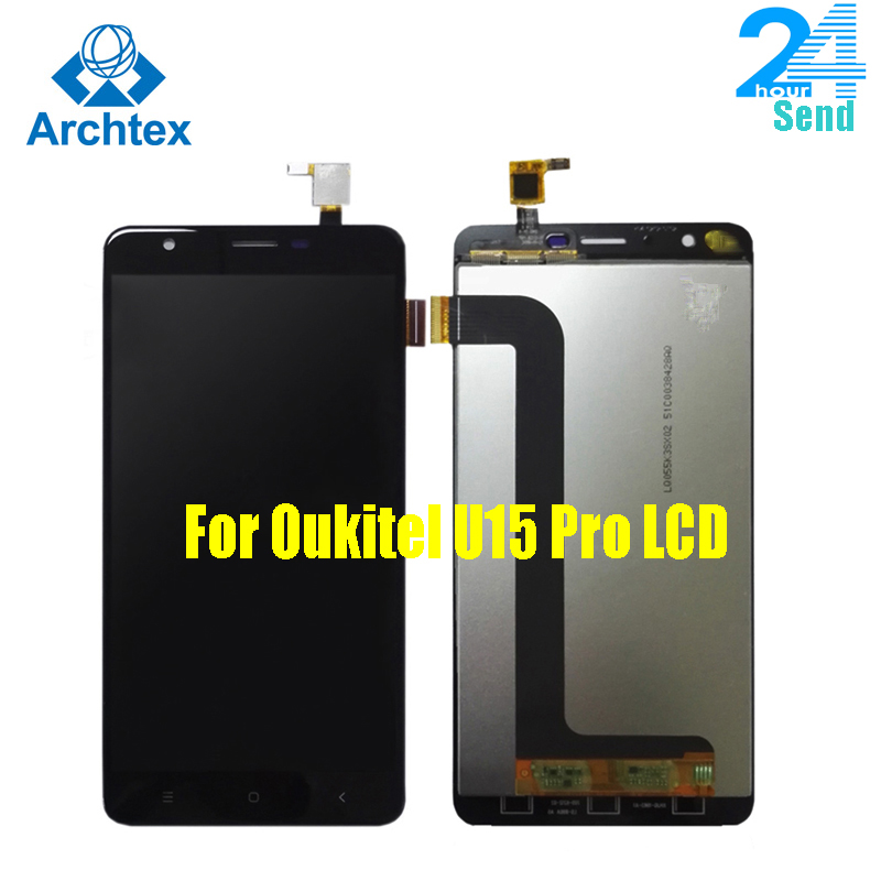 For Original Oukitel U15 Pro LCD Display+Touch Screen Digitizer Assembly Replacement Oukitel U15 Pro 1280X720 5.5inch Stock