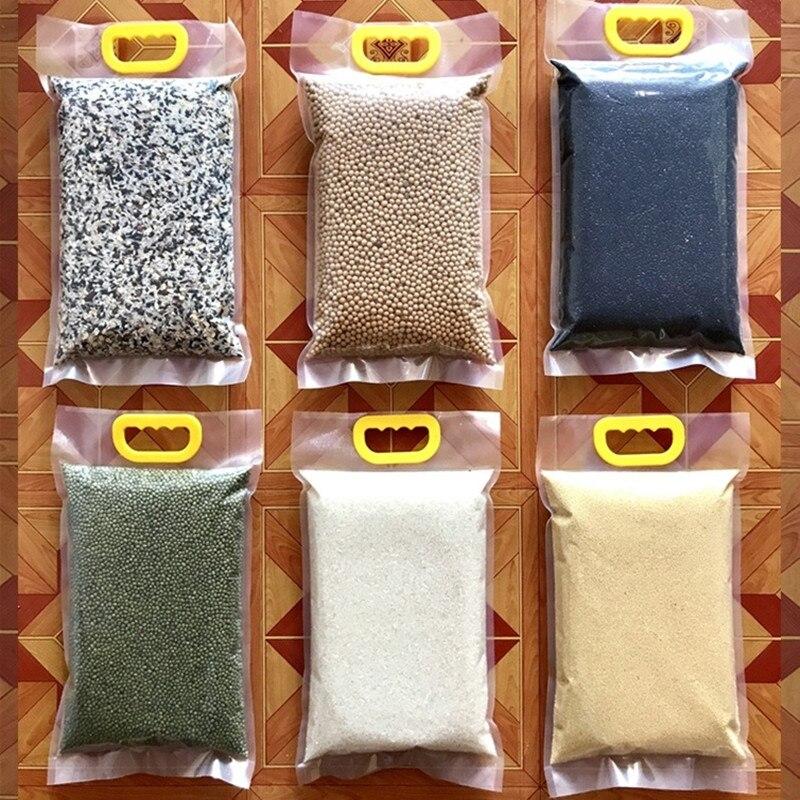 10 stücke 5kg 10kg reis vakuum verpackung taschen getreide soja lebensmittel große transparente kunststoff taschen mit griff dicke 30 draht