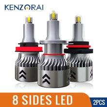 8 Sides chip LED Car Light Headlight Bulb H7 H1 H3 H8 H11 9005 HB3 H10 9006 HB4 Super bright Auto LED Bulbs 60W 12V 6000K 9600LM super bright r3 9600lm 9005 hb3 white 6000k auto car led headlight 9006 hb4 cre e xhp 50 40w 4800lm led headlight bulbs