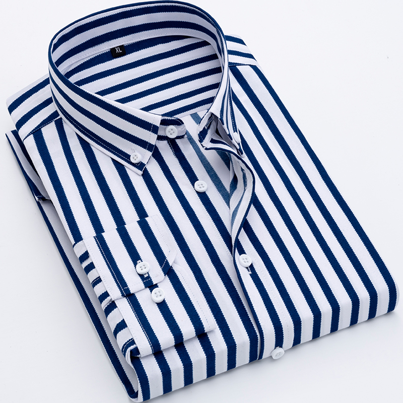 2020 New Arrival Men Shirt 100% Polyester Long Sleeve Shirts Twill Print Fashion Causal Dress Man Shirts 9 Colors Brand DS371