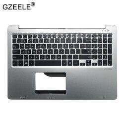 Gzeele US Laptop Keyboard Asus TP500 TP500L TP500LA TP500LB TP500LN Perak Keyboard dengan Tempat Berteduh Atas Case Cover