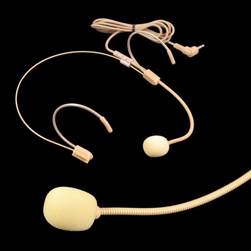 Professional UHF Dual Nude Headset Wireless Headworn Microphone Skin Color