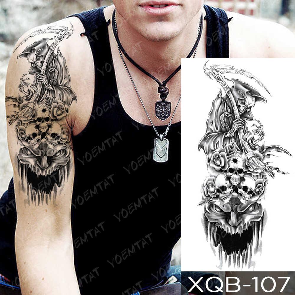 Tatuagem temporária à prova dwaterproof água adesivo floresta lua voando pássaro urso flash tatuagens leopardo lobo tigre corpo arte braço falso tatoo