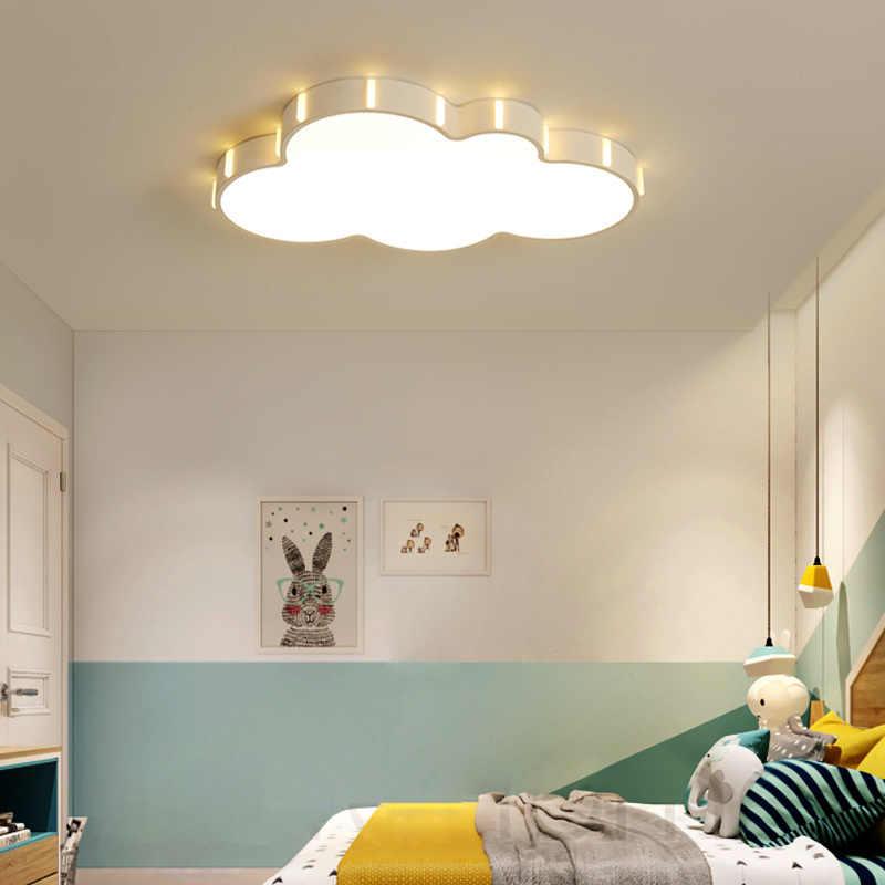 nuage moderne lustre pour enfants chambre enfant chambre plafon 110v 220v 5cm plafond led lustre lampadario led luminaires