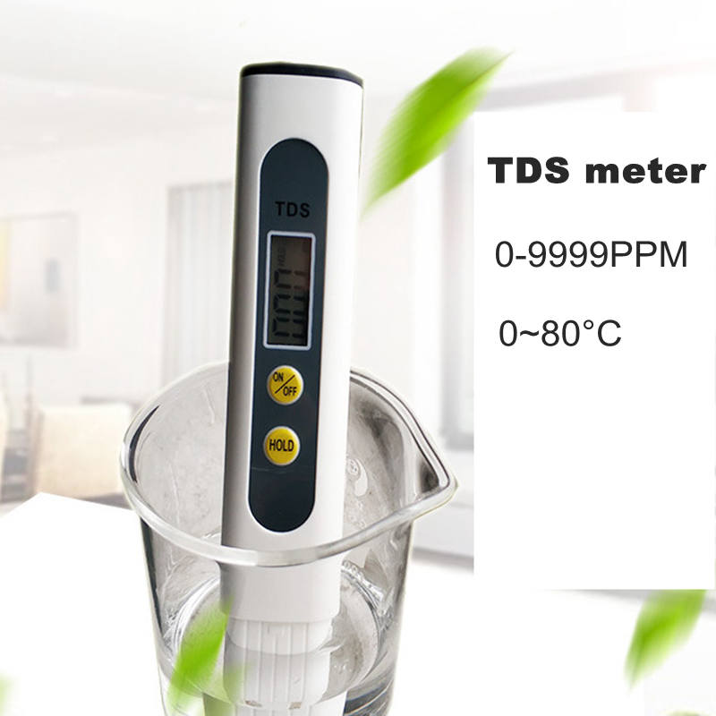 Portable Digital TDS Meter Pen C/F Thermometer Water Analyzer 0-9999ppm TDS Tester For Drink Lab TDS  Temperature Monitor