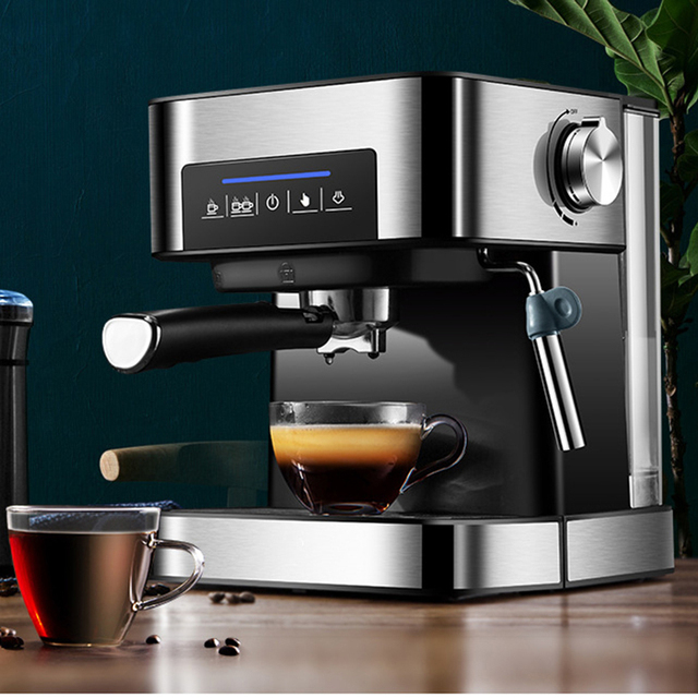 1350W/20Bar/1.6L Italian Coffee Machine Electric Semi-automatic Coffee Maker High Pressure Extraction/Double Temperature Control 1