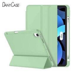 Étui pour nouvel iPad Air 4 10.9 2020 couverture en Silicone souple étui pour tablette étui intelligent avec porte-crayon Funda A2316 A2324 A2325 A2072