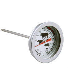 Stainless Steel Pocket Probe Thermometer Temperature Gauge For BBQ Meat Food Kitchen Cooking Thermometer Instant Read Meat Gauge(China)
