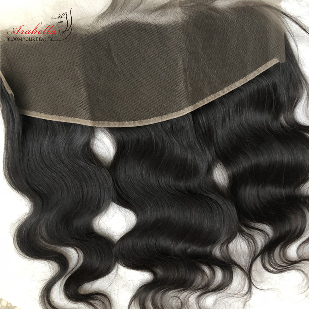 Body Wave 13x4 Transparent Lace Frontal   Arabella PrePlucked Bleached Knots Lace Frontal With Baby Hair 4