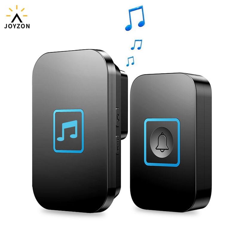 JOYZON 60 Chime 110DB Wireless Doorbell Waterproof 300M Remote EU AU UK US Plug Smart Door Bell Battery 1 Button 1 2 Receiver