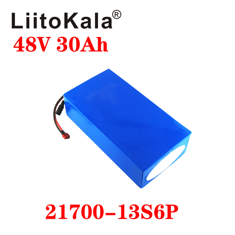 LiitoKala 48V 30ah 15ah 20ah 25ah Ebike Battery 20A BMS 48v Battery Lithium Battery Pack For Electric Bike Electric Scooter