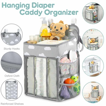 Baby Newborn Hanging Diaper Caddy Organizer Diaper Stacker For Changing Table Stroller Organizer Baby Accessories