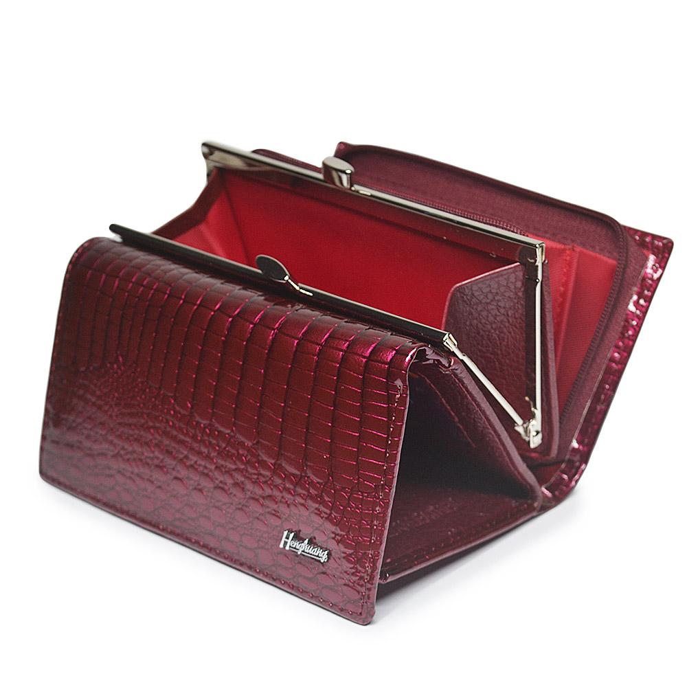 HH Luxury Women Genuine Leather Alligator Short Wallet Female Zipper Hasp Large Capacity Crocodile Calf Leather Small Purse