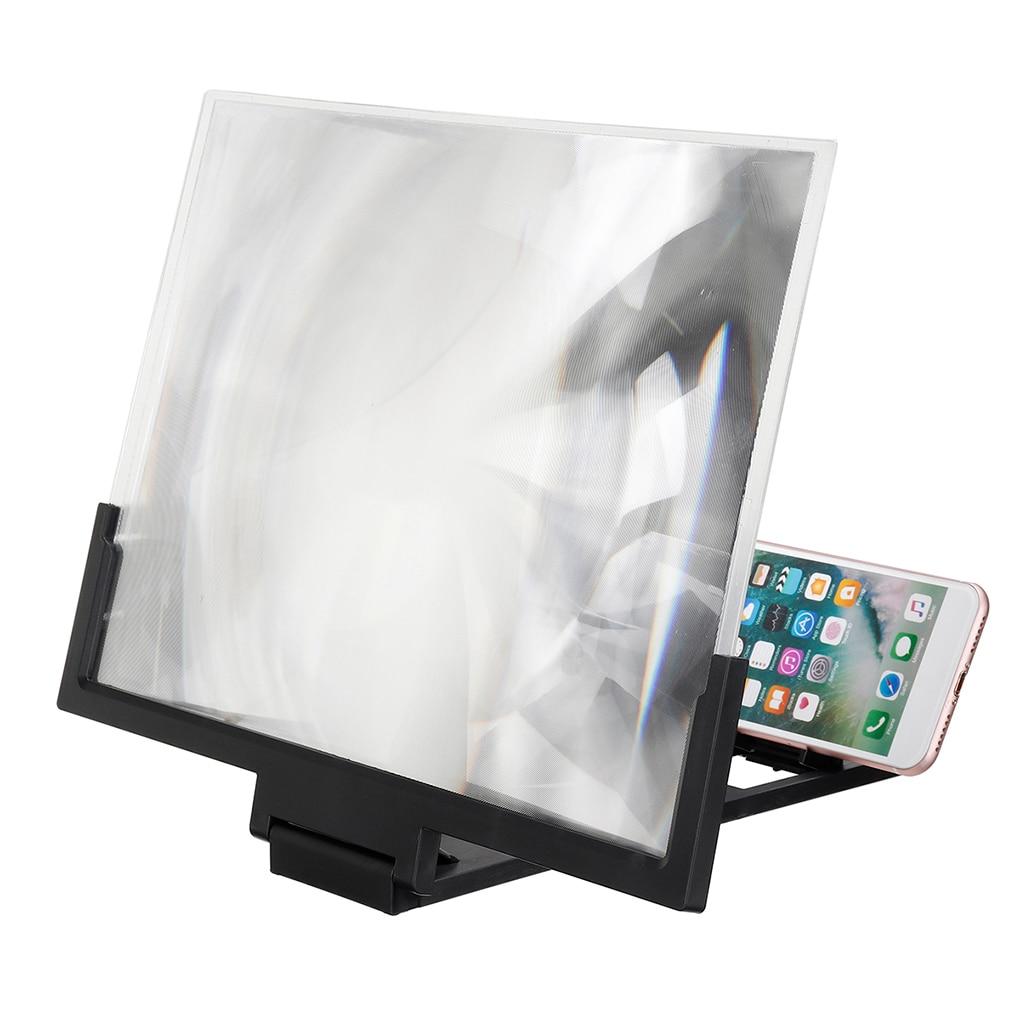 Случайный цвет 3D увеличительное стекло экран HD усилитель для лупа для мобильного телефона держатель подставка 14 дюймов черный или белый Лупы      АлиЭкспресс
