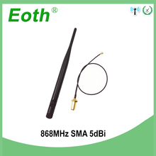 868MHz 915MHz Antenna 5dbi RP-SMA Connector GSM 915 MHz 868 MHz antena outdoor antenne +21cm RP-SMA/u.FL Pigtail Cable allishop rp sma male 868 mhz 5dbi wireless antenna 868 mhz router antenna 15cm rp sma female to ipx 1 13 cable