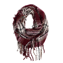 2019 New Thickened Winter Scarf Plaid Infinity Scarf For Men Fashion Knitted Tassel Shawl Scarf Women Cashmere Bufandas Hombre pure color knitted infinity scarf