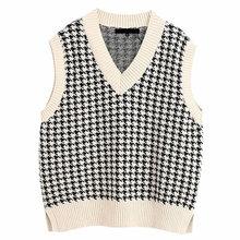 Женский вязаный свитер жилет модный Свободный винтажный женский